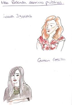 Isabel Izquierdo y Carmen Cedillo