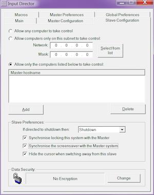 Configuración Input Director