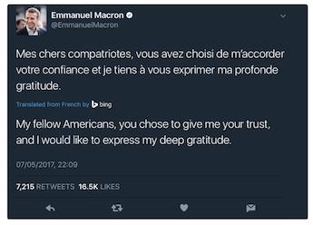 Tuit Macron