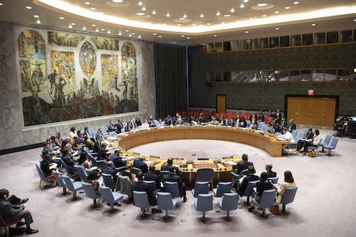 Foto de una sesión del Consejo de Seguridad