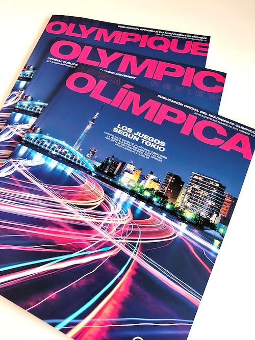 Tres ejemplares de la Revista Olímpica