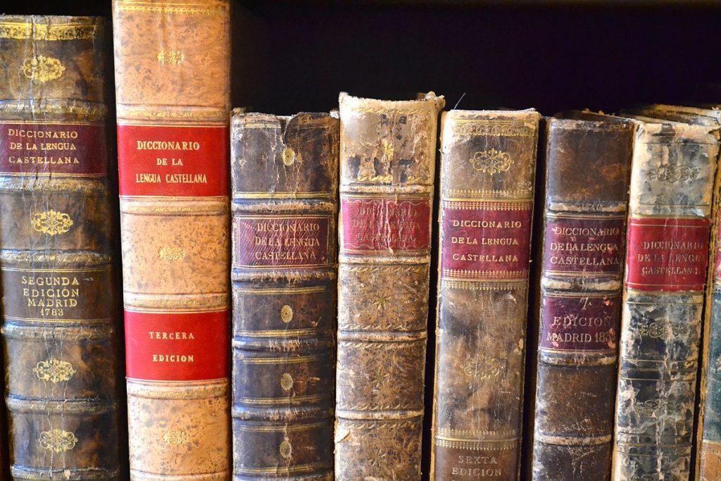 Varios diccionarios, ediciones antiguas