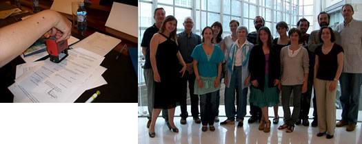 Representantes de las distintas asociaciones pertenecientes a Asocesp y firma del convenio